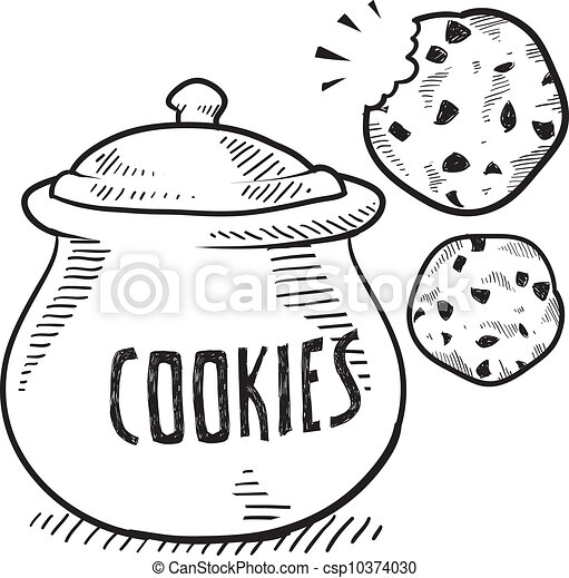 Cookie jar sketch - csp10374030