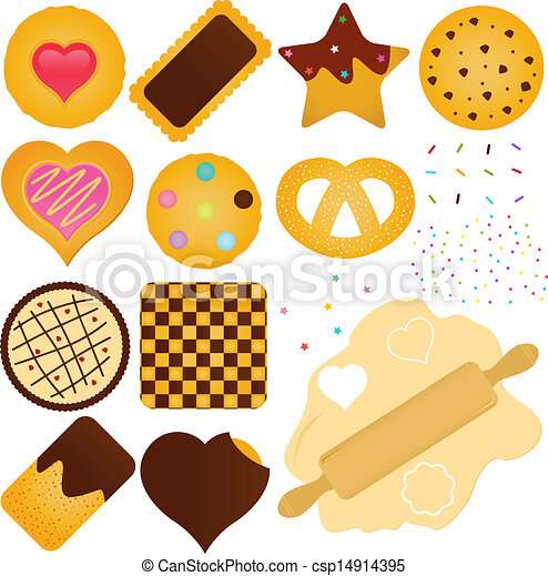 Cookies and Biscuit with a Dough - csp14914395
