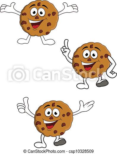 Cookies cartoon character - csp10328509