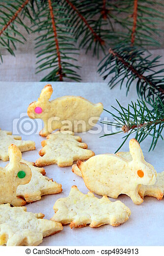 Cookies for Christmas and new year - csp4934913