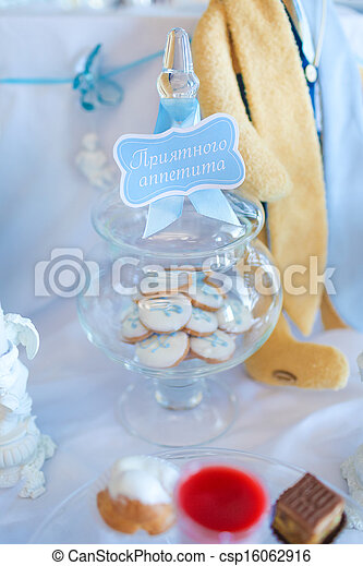 Cookies in a glass jar - csp16062916