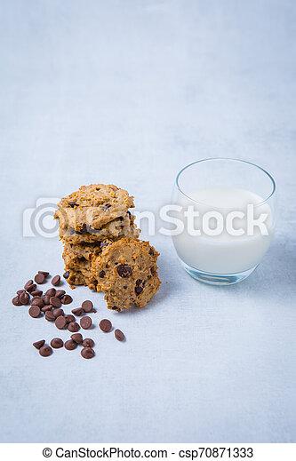 Cookies Milk Recipe - csp70871333