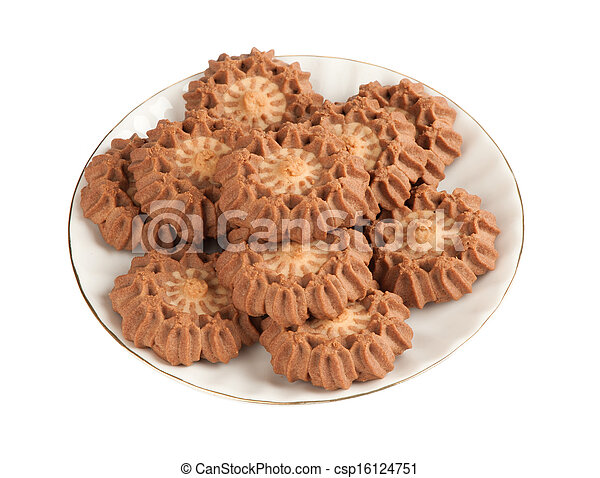 cookies on a plate - csp16124751