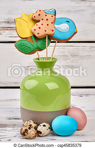 Cookies On Sticks In Vase