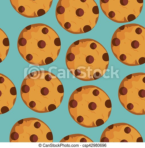 Cookies Seamless Background - csp42980696