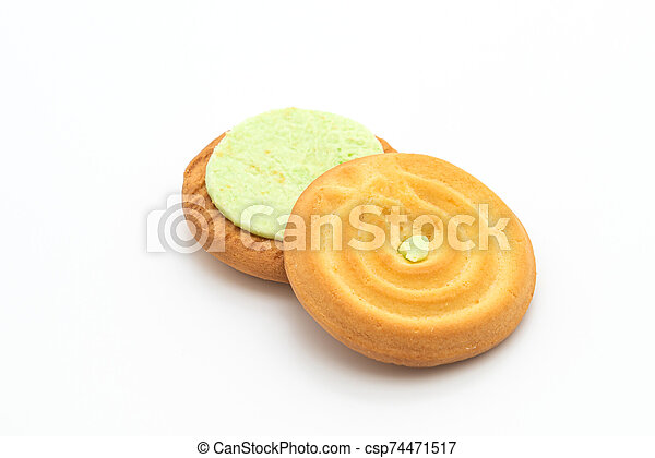cookies with pandan cream - csp74471517