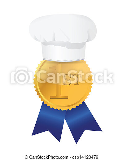 cooking contest 1st place winner ribbon - csp14120479