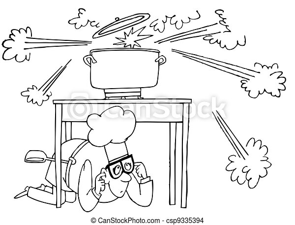 Cooking explosion - csp9335394