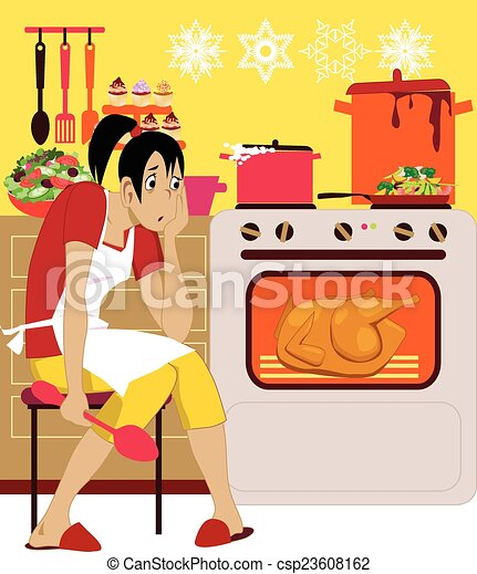 Cooking for holidays - csp23608162