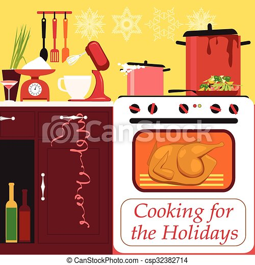 Cooking for the holidays - csp32382714