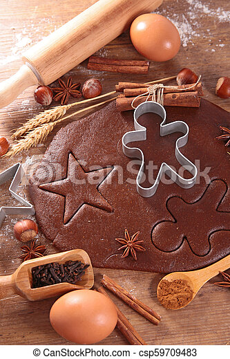 cooking ginger bread cookie - csp59709483