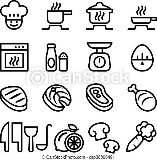 Cooking icon set - csp38896491