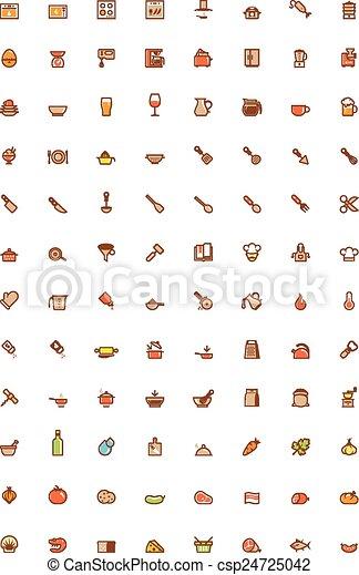 Cooking icon set - csp24725042