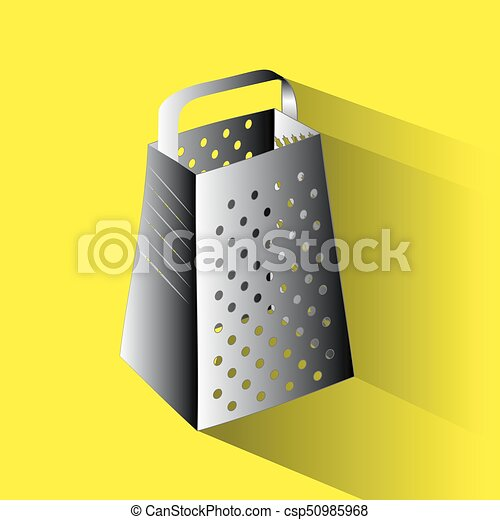e1014583ae Vector. Cooking kitchen grater icon in flat style isolated on white  background. - csp50985968