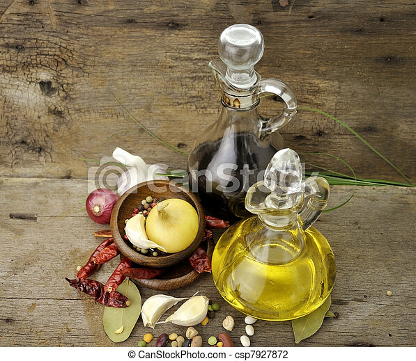 Cooking Oil Vinegar And Spices - csp7927872