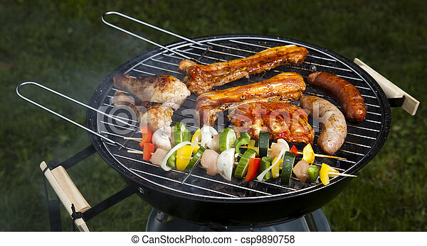 Cooking on the barbecue grill - csp9890758