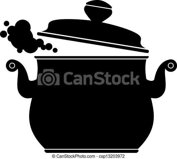 Cooking Pan (silhouette) - csp13203972