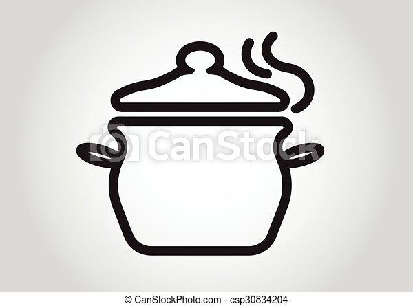 cooking pan symbol icon design element  - csp30834204