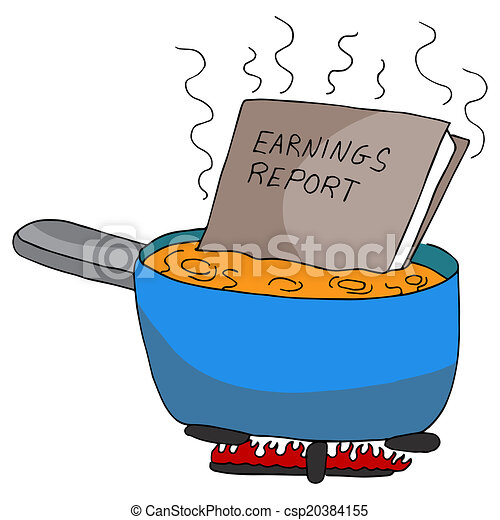 An image of cooking the books. clipart vector - Search ...