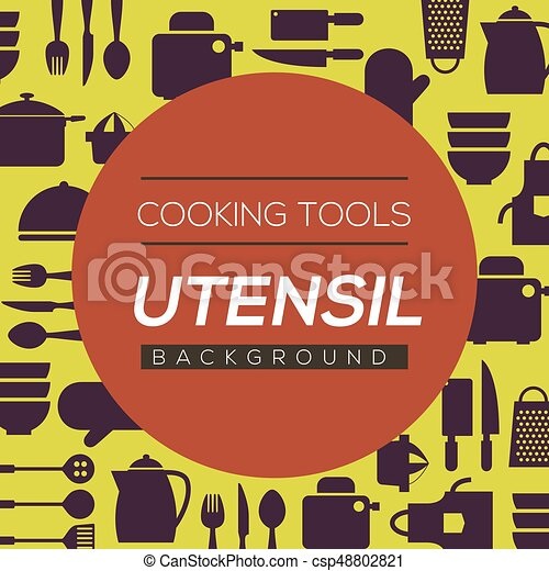 Cooking Tools And Utensil Background Vector Illustration - csp48802821