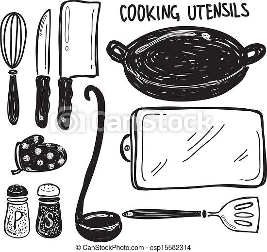 Cooking utensil vector clip art search illustration for Elemento de cocina negro