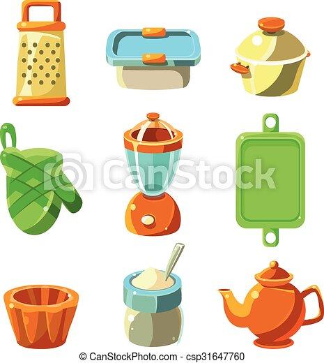 Cooking Utensils Vector Illustration Cooking Utensils Kitchen Items Vector Illustration Collection