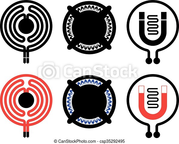 Cooktop icons - csp35292495