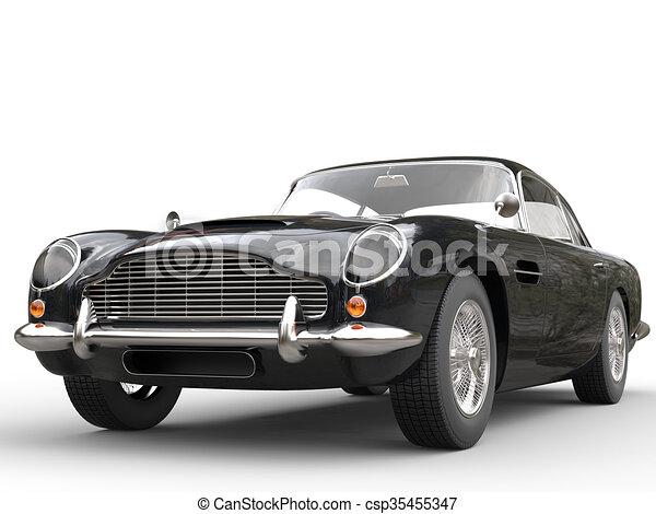 Cool Black Vintage Car - csp35455347