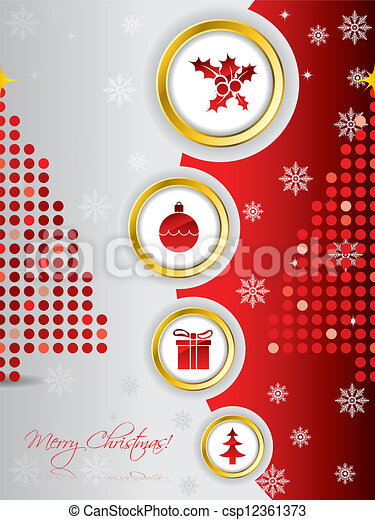 Cool christmas card design with golden rings cool christmas card design csp12361373 m4hsunfo