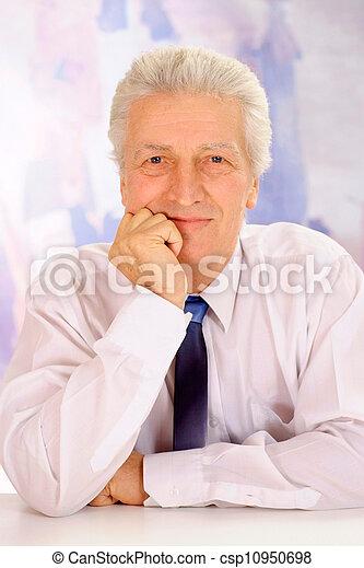 Cool elderly man in suit - csp10950698