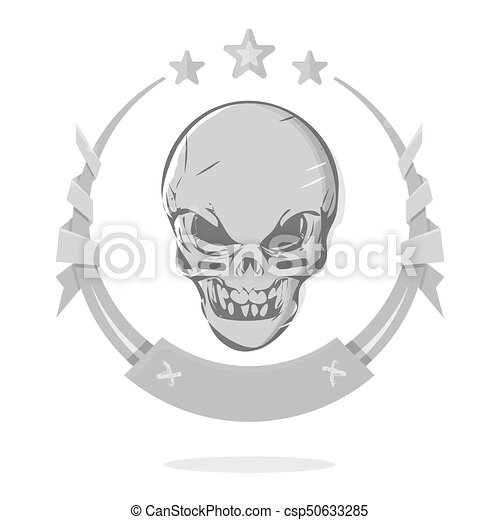 Skull Template | Cool Evil Skull Template Awards Or The Gothic Emblem The Demon