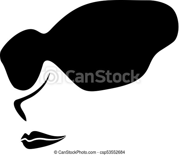 cool face with sunglasses - csp53552684
