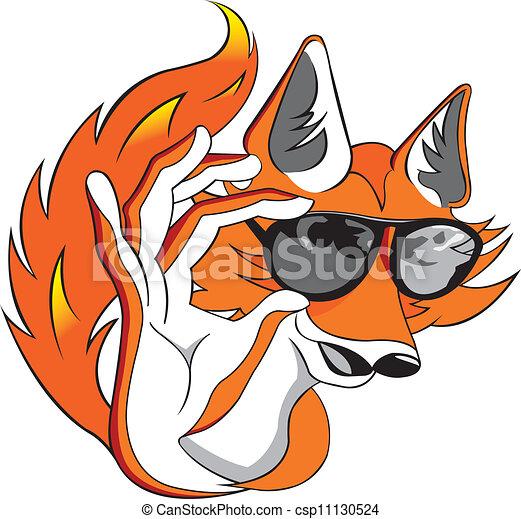 Cool fox - csp11130524