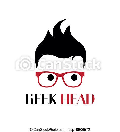 Cool geek logo template. - csp18906572