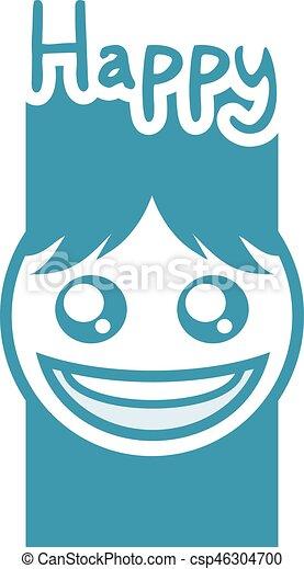 cool happy face design - csp46304700