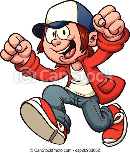 Cool Kid Cool Cartoon Kid Vector Clip Art Illustration With Simple