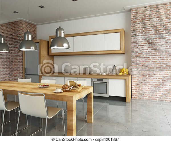 Interior of fashionable kitchen 3d rendering stock illustrations 17 interior of fashionable kitchen 3d rendering clip art images and royalty free