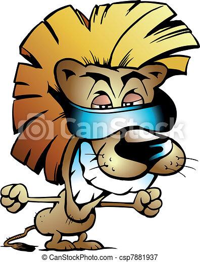 Cool Lion King - csp7881937