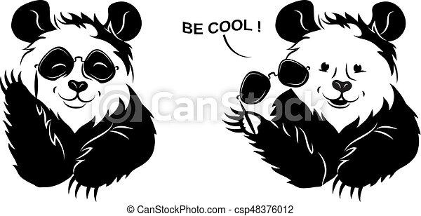Cool Panda Draws Off Glasses