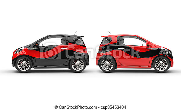 Cool Red and Black Compact Cars - csp35453404