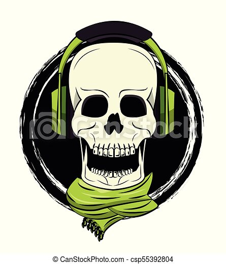 Cool skull print for tshirt - csp55392804
