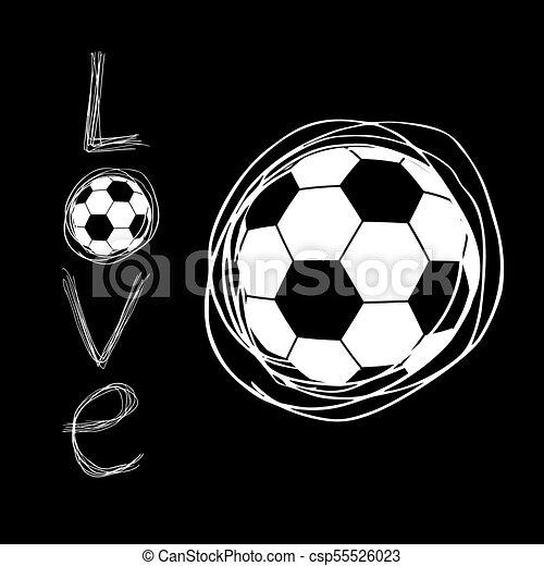 cool soccer love art symbol - csp55526023
