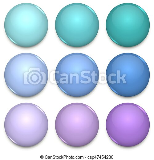 cool tone color glossy blank badges template cool tone color glossy