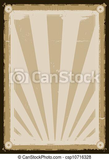 Cool Vintage Background Poster - csp10716328