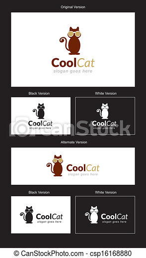 CoolCat Logo Design - csp16168880