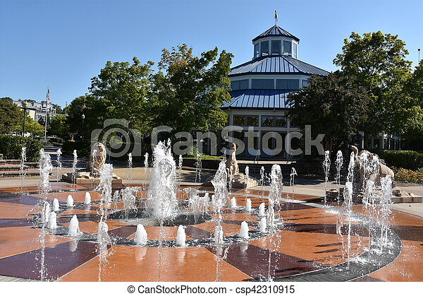 Coolidge Park in Chattanooga, Tennessee - csp42310915