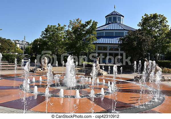 Coolidge Park en Chatanooga, Tennessee - csp42310912