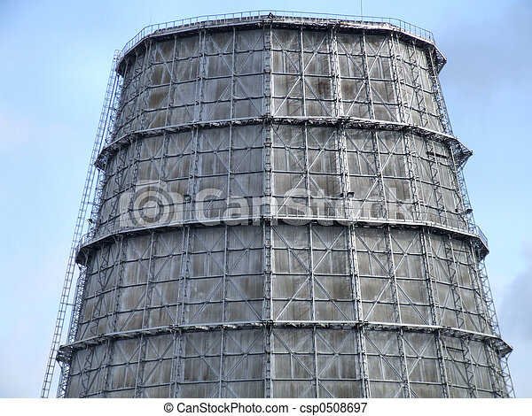 Cooling tower of a big plant - csp0508697