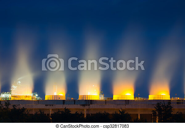 Cooling tower twilight - csp32817083