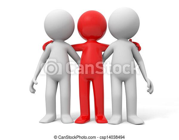 coopération, équipe, associé - csp14038494